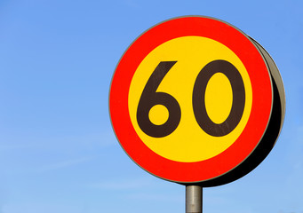 Speed limit 60 km/h