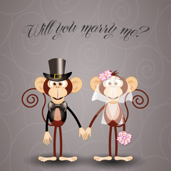 Monkey proposes marriage
