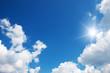 Blue sky and sun. - 66499965