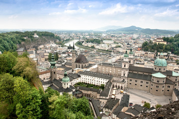 Cityscape of Salzburg Austria