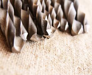 Drills on fabric.