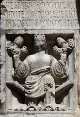 Faith, relief at the baptistry from Parma, Italy