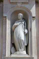 Statue of saint,church of Saint John the Evangelist.Parma.Italy