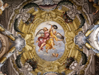 Fresco, Saint Lucia church, Parma, Italy
