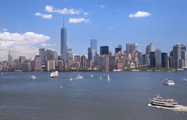 New York City skyline with Lower Manhattan skyline