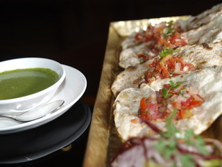 Comida vegetariana en Delhi (India)