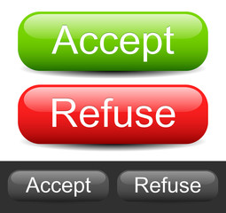 "Stylish ""Accept"", ""Refuse"" buttons"