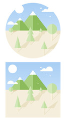hipster vector landscape flat style