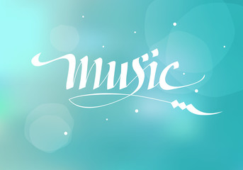 vector calligraphic inscription music