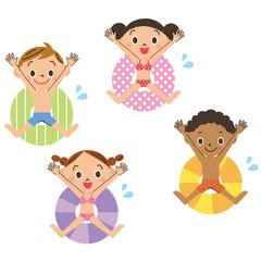浮き輪と子供