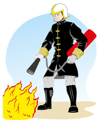 Occupation Fireman person