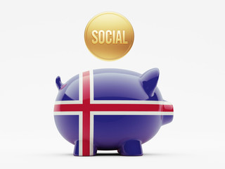 Iceland Social Concept