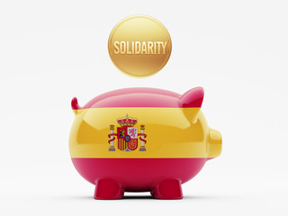 Spain Solidarity Concept