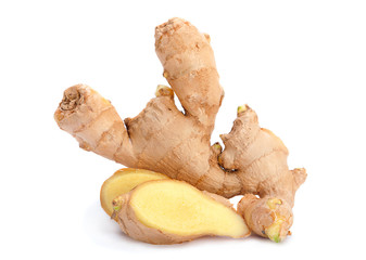 Ginger root closeup