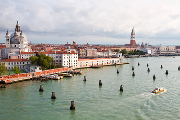 Panoramic view of famous Venice