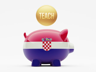 Croatia. Teach Concept