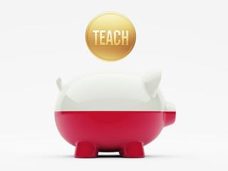 Poland Teach Concept