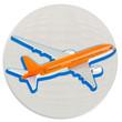 avion sur boule blanche