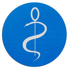 logo médecin sur boule bleue