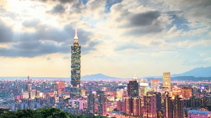 Nice view of Taipei night, Taiwan