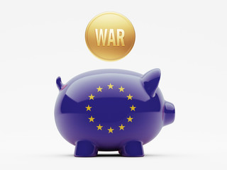European Union War Concept.