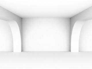 Empty white interiorr perspective background