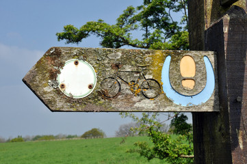 Old Countryside Footpath Sign Post