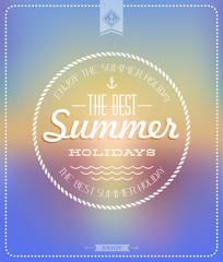 Vintage Poster Summer | Sunset | Retro label