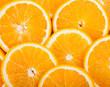 canvas print picture - ripe juicy orange slices