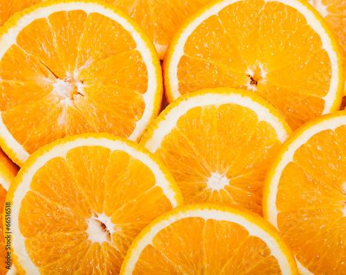 canvas print picture ripe juicy orange slices