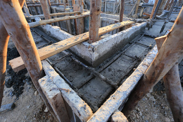 construction house, reinforcement metal framework