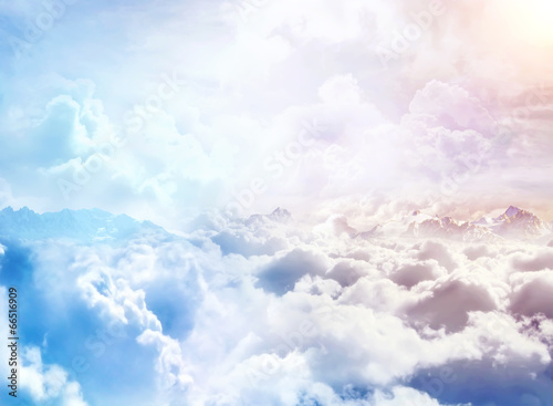 Fotobehang Hemel Over the Clouds