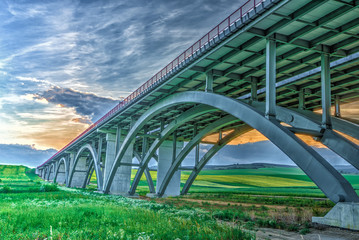 New highway viaduct in Slovakia