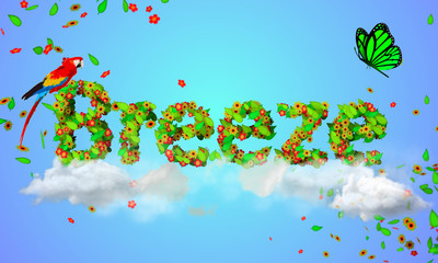 Breeze leaves particles 3D