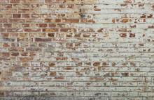 Fond de vieux mur de brique sale vintage avec du plâtre pelage