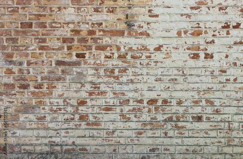 Staande foto Scandinavië Background of old vintage dirty brick wall with peeling plaster