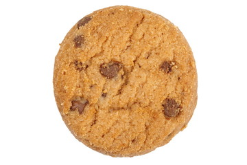 Chocolate cookies biscuit on a white background