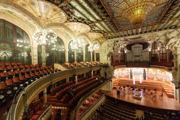 Interior of Palau de la Musica Catalana in Barcelona
