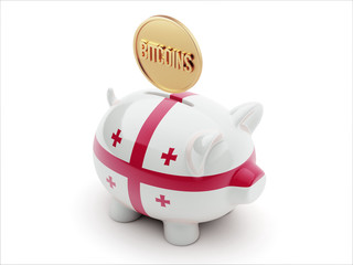 Georgia Bitcoin Concept Piggy Concept