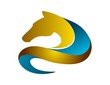 horse logo silhouette shape symbol,business icon