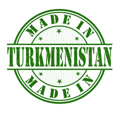 Made in Turkmenistan stamp