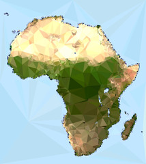 Polygonal Africa Map
