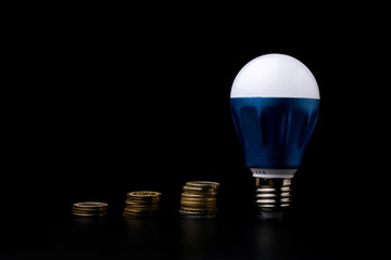 LED Bulb with money