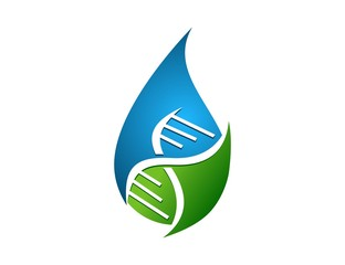 technologies logo, water drop hygiene symbol,science icon