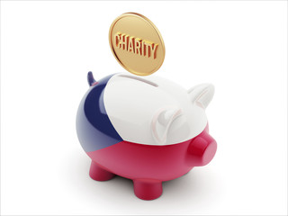 Czech Republic Charity Concept Piggy Concept