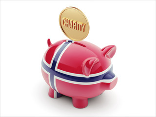 Norway Charity Concept Piggy Concept