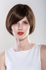 Fashion Hairstyle Glamour Young Woman Portrait