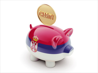 Serbia Charity Concept Piggy Concept