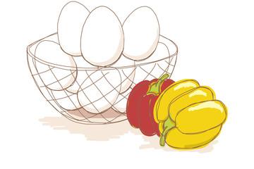 キッチン/食材のイラストセット