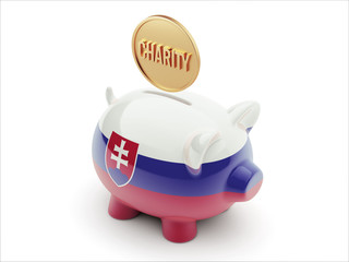 Slovakia Charity Concept Piggy Concept